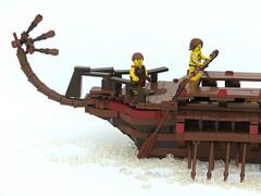 Trireme (W. Navarre) Tags: red water greek boat ship lego tail minifig oars trireme