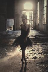 Black Swan (Pauline L photographe) Tags: old ballet abandoned beauty dark decay urbandecay fineart sigma 50mm14 explore forgotten swanlake exploration industrie blackswan abandonned urbanexploring fineartphotography urbex fineartphotographer canon6d pointesshoes