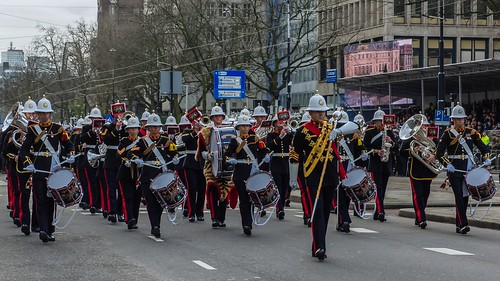 The Band of Her Majesty's Royal Marines (GB) - Defilé Korps Mariniers - Coolsingel - Rotterdam