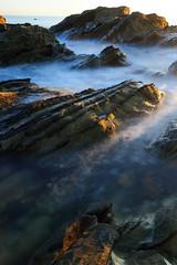 Rocks (appi U) Tags: autumn sunset water japan coast rocks  kanagawa
