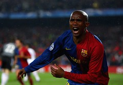 Eto makes his Ballon d'Or prediction (fcbarclub) Tags: barcelona fcbarcelona eto samueleto