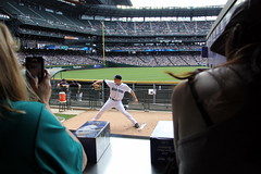 Warmup action (NJ Baseball) Tags: seattle washington mariners safecofield pregame seattlemariners americanleague 2015 daygame majorleagues mikemontgomery
