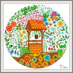Wishing Well (Trev Grant) Tags: flowers well colouring secretgarden stabilo staedtler colouringbook wishingwell 2015 jardinsecret cappi triplusfineliners johannabasford 31stdecember2015