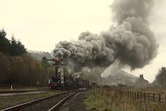 Levisham departure (feroequineologist) Tags: 76084 76038 76079 railway train steam levisham levishamstation northyorkshiremoorsrailway nymr