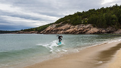 Cowabunga (John Getchel Photography) Tags: acadia clouds maine nationalpark beach boogieboard surfing barharbor unitedstates us