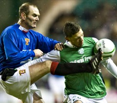 2010 v Hibernian - Derek Wingate (Gordon McCreath) Tags: 2010 scottishfacup hibernian hibs easterroad wingate dexi football fitba soccer voetball calcio irvinemeadowxi irvinemeadow medda meadow