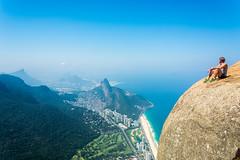 DSC_6063-2 (sergeysemendyaev) Tags: 2016 rio riodejaneiro brazil pedradagavea    hiking adventure best    travel nature   landscape scenery rock mountain    high green   summit  ocean blue  tranquil serenity