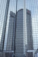 competitive reflection (Schermannski) Tags: frankfurt hochhaus skyscraper spiegelung reflection