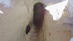 DSCF0078 glise monolithe d'Aubeterre-sur-Dronne (Charente) (Thomas The Baguette) Tags: aubeterresurdronne charente france monolith cave church tympanum glise glisenotredame saintjacques caminodesantiago sexyguy chateau cloister minimes mithra mithras cult