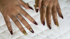 A little bling (Roving I) Tags: nailart bling shine glitter danang vietnam hands fingers fashion style beauty