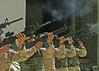 An Honor Guard fires a 21 Gun salute (USARCENT) Tags: honorguard 21gunsalute memorialservice acompany 1stbattalion 41stinfantryregiment 2ndbattalion 70tharmoredregiment 3rdbrigade 1starmoreddivision 2ndplatoon cicibarcanal no mullafayad iraq ftriley armor 1starmordivision 3rdinfantrydivision 3rdid marne oifiii operationiraqifreedom 270 141 41stinfantry taskforce270 thunderbolts