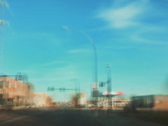 16/16 (nikaylasnyder) Tags: motion blur long exposure swirl landscape trees homes houses mcdonalds blue skies fall autumn filter