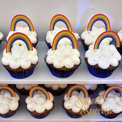 Rainbow Cupcakes (sweetsuccess888) Tags: instagramapp square squareformat iphoneography uploaded:by=instagram sweetsuccess cupcakes rainbow clouds rainbowcupcakes noahsark noahsarkparty desserttable dessertbar dessertbuffet philippines