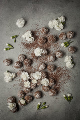Ricotta Coconut Truffles (saraghedina) Tags: chocolate foodphotography foodstyling homemade dessert cocoa sweets stilllife stilllifephotography holidays canon flower rose