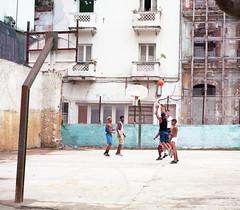 Streets of Havana - Cuba (IV2K) Tags: havana habana lahabana cuba cuban kuba caribbean street basketball mamiya 7ii mamiya7 mamiya7ii mediumformat kodak kodakektar ektar