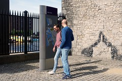 Are you sure its this way (kailhen) Tags: outdoors summer sunny liverpool friends albertdock docks water sky map streetphotography