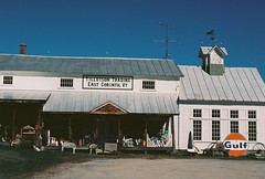 Tillotson Trading (Nsharp17) Tags: nikon nikonfe film 35mm kodak ektar ektar100 sign architecture building antiquestore antiques vermont