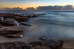 Shelly Beach (Robert Casboult) Tags: landscape landscapephotography longexposure landscapelovers beach sunrise seaside seascape sydney rockformations sand shoreline goldenhour canoneos6d canon247028lens clouds coastal