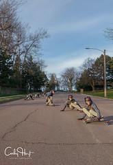 Multiple Exposure Sliding (Codydownhill) Tags: sports action skateboard longboard longboarding skateboarding multiple exposure slide portrait sky road street boy skater
