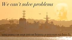 We can't solve problems ... (m.gifford) Tags: einstein quote alberteinstein creativesprint upside down upsidedown day21 thinking