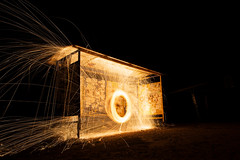 IMG_7727 (kurmysh0v) Tags: steel wool sparks glowing fire spinning hot background night circle light abstract orange fireworks yellow bright motion danger concept burning