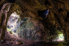 Gua Gomantong Caves, Malaysia (redsk82) Tags: malaysia sabah guagomantong guagomantongcaves cave caves tropical country tropicalcountry travelling lights rocks hdr long exposure hut huts longexposure fisheye defished