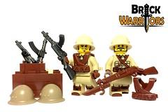Nov 2016 - WW2 Japanese Infantry (BrickWarriors - Ryan) Tags: brickwarriors custom lego minifigure weapons helmets armor ww2 world war japan japanese rifle guns smg suspenders torso military