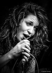 Chick Singer, Badass Rockin'... (jayem.visuals) Tags: blackwhite blackandwhite concert female livemusic music musician people rock singer women jayemvisuals juergenmaeurer