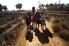 Women and their shadows walking towards a day of work in the fields... (hern42) Tags: adg andilamena madagascar mining leica leicam240 35mm