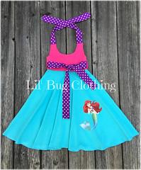 Ariel (Lil' Bug Clothing) Tags: ariel little mermaid halter dress costume