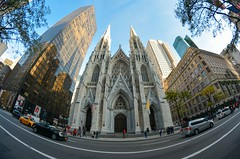 Manhattan_NYC (Niko Kyrylenko) Tags: manhattan newyork nyc ny fisheye awesome amazing church street lifestyle road car skytower gothic catholic downtown shopping shop myaka centralpark rockfellerplaza