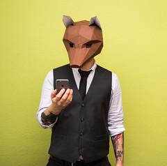 Fox (toqo) Tags: canon canond60 elements fox wintercroft mask fuchs flash bltz anzug suit iphone apple personen