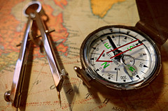 The Journey. (Through Serena's Lens) Tags: tabletop compass instrument world map direction stilllife journey macro dof