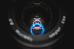 Elements (pooshda) Tags: lens lensflare elements reflection refraction light lighting ringlight led ring glass clear abstract colorful dof focus depth noir dark shadow drama dramatic sony alpha a7rii