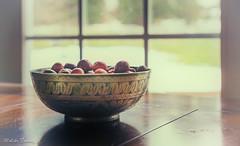 Vintage berries (melike erkan) Tags: cranberries thanksgiving vintage window light windowlight 35mm sonymirrorless sonya6000 stilllife tabletop food retro