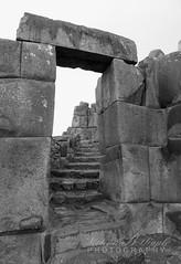 Sacsayhuamn, Peru (bellydanser) Tags: bw blackandwhite monochromatic peru ruins inca stonework stone ancient sacsayhuamnperu sacsayhuamn doorway archway