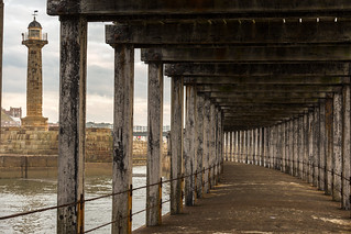 A view from underneath Whitby Pier - 31-07-2015