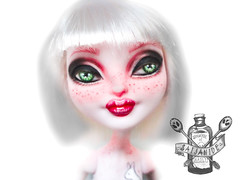 Custom Bunny Blanc (saijanide) Tags: white rabbit bunny high doll artist dolls ooak customized after custom ever blanc repaint faceup eah saijanide