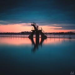 photographer Pool (Ludovic Lagadec) Tags: longexposure sunset sea sky mer seascape beach landscape brittany marin bretagne breizh paysage plage manche saintmalo piscine stmalo swimingpool mare poselongue bretagnenord bw110 ludoviclagadec