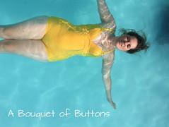 Abigail Swimsuit (A Bouquet of Buttons) Tags: diy lulu swimsuit swimwear polkadot ohhh badpak
