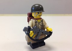 Lego US Paratrooper Sergeant (ranger3181) Tags: world 2 two brick infantry america army us war lego painted united collection equipment figure ww2 second soldiers guns british marines uniforms states custom weapons enfield paratrooper minfig brickarms minifigcat citizenbrick