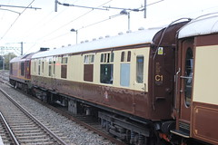 Baggage Car No. 11 . 99545 . ( 80207 ) . (AndrewHA's) Tags: car station train private 1 mark railway 11 pullman vehicle service british baggage courier hertfordshire excursion owner cheshunt bsk 35466 belmond 80207 99545