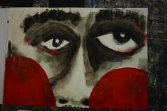 Der Boxer (raumoberbayern) Tags: red white black rot painting acrylic sketchbook boxer boxing schwarz acryl robbbilder malerei boxen nachbarschaft weis skizzenbuch nighbourhood