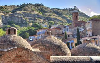 Les bains sulfureux de Tbilissi