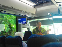 14Oct1130HST Driver, Guide, and Ukelele Player (mahteetagong) Tags: cruise bus hawaii nikon tokina driver guide excursion ukelele 1224mmf4 d80