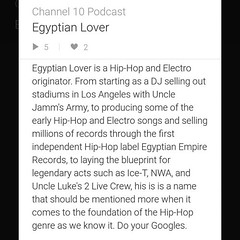 New episode up with #hiphop and #electro pioneer Egyptian Lover.... (channel10podcast) Tags: podcast history itunes oldschool story electro hiphop interview westcoast rapmusic stitcher oldschoolhiphop realhiphop soundcloud hiphophead hiphopheads raisethebar hiphophistory