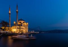 Blue Hour in Ortakoy (afsincelik) Tags: travel turkey long exposure istanbul hdr bosphorus ortakoy