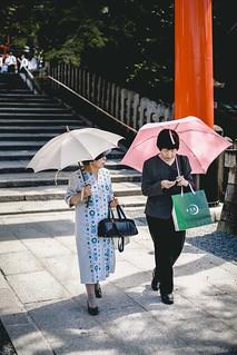 Ladies stroll around Fushimi Inari
