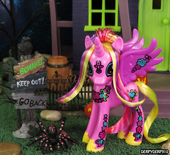 PonyMania Blossom Collection 05 (DerpyDerp910) Tags: halloween sunshine night toy petals lily princess little lotus pony valley figure nightmare mania hasbro mlp mylittlepony helia blowwom my cadance brony roseluck derpyderp910 ponymania