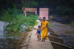 ()                         (Mother'care) (VENGAT SIVA) Tags: people india love rural village child riverside mother streetphotography care pondicherry indianstreetphotography rootsofindia